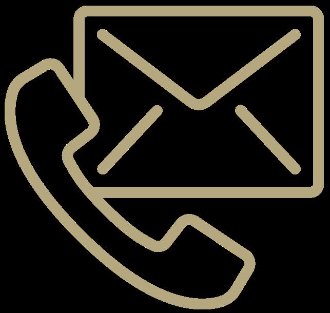 mail en bel icoon